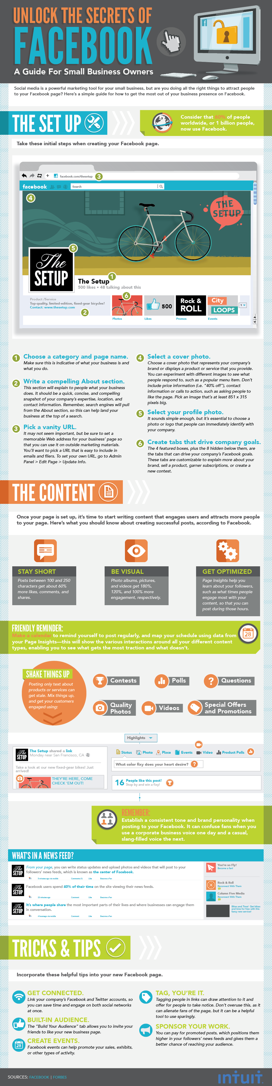 Facebook marketing tips infographic