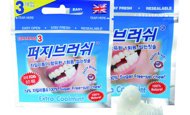 Fuzzy Brush, the UK manufacturers of the chewable toothbrush, which can be found in store and at service stations around the UK has reported a staggering 900% growth in export sales to Asia in the last 12 months