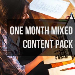 One Month Mixed Content Pack