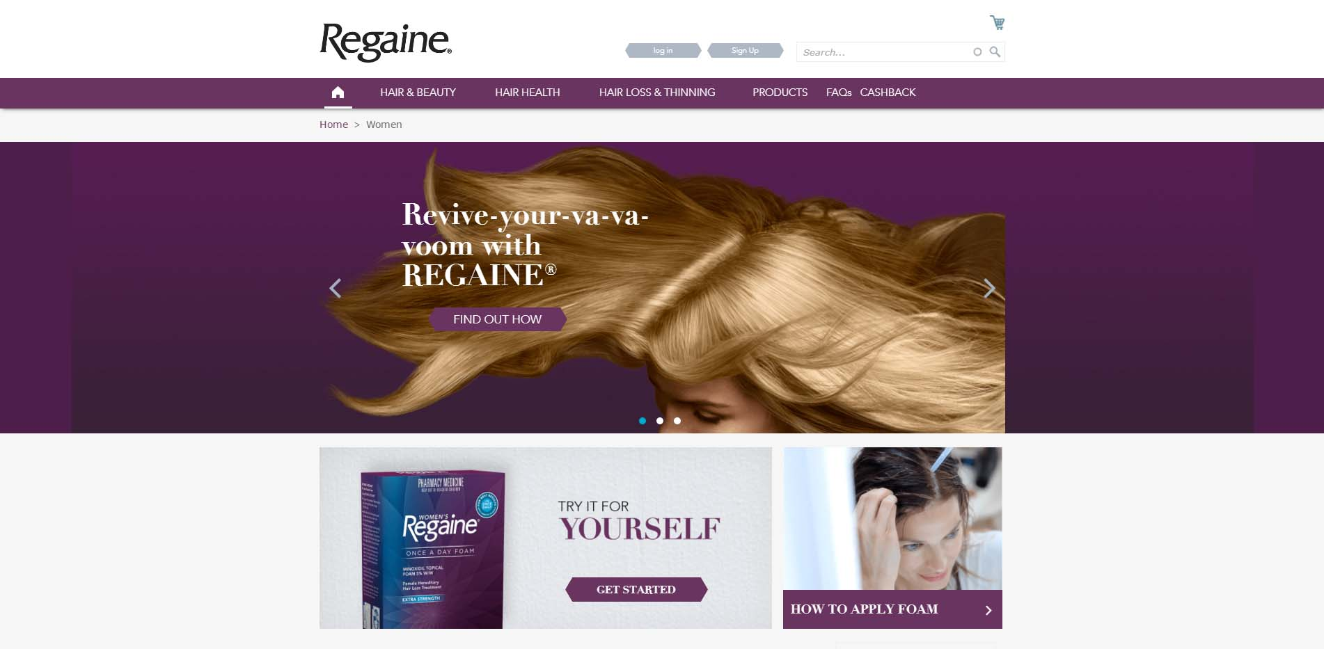 Web content writing for Regaine