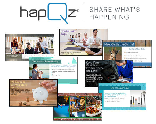 'HAPQZ' MAKES DIGITAL DISPLAY SOFTWARE SIMPLE AND AFFORDABLE