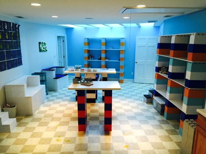 Modular Building Blocks Explains How To Craft Retro Furniture Using Life Size Lego Bricks