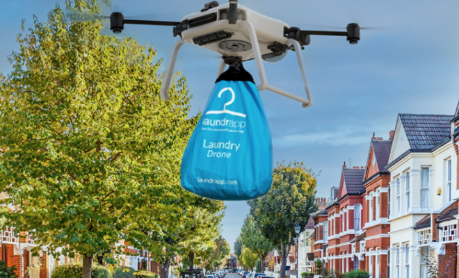 On-demand laundry and dry-cleaning app to launch drone pickup & delivery